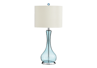 Bedside Lamp in Glass with Beige Shade product photo