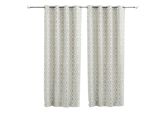 "Set of 2 54x96"" Grey Curtains product photo"