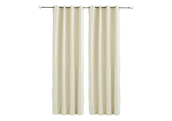 "Set of 2 54x96"" Ivory Curtains product photo"