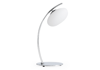 Metal Table Lamp with White Glass Shade product photo