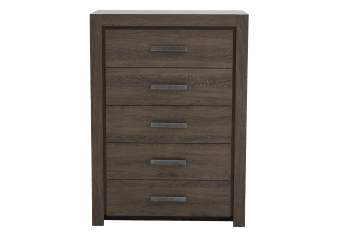 Wood 5 Drawer Chest - Brown Grey product photo
