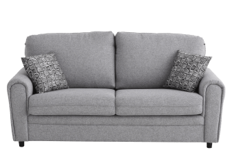 Grey Sofa Bed with Decorative Cushions product photo