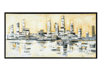 30x60'' Modern City Painting product photo