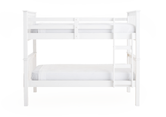 Twin White Wood Kid Bunk Bed product photo