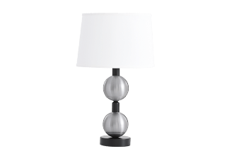 Metal Table Lamp with White Shade product photo