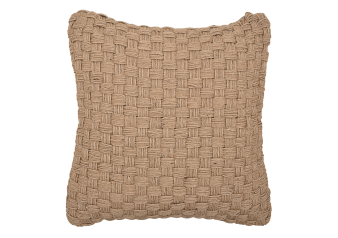 "20x20"" Beige Woven Decorative Pillow product photo"