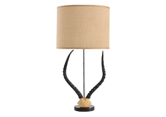 Table Lamp with Antelope Pattern and Beige Shade product photo