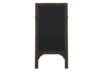 Slate Blackboard with Dark Brown Wood Stand product photo