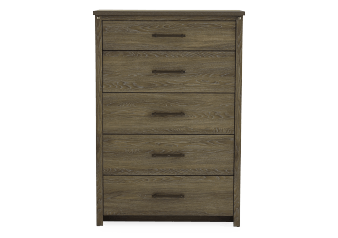 Brown Grey 5-Drawer Chest product photo