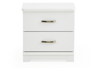 White Nightstand product photo