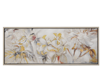 "20x50"" Floral Yellow and White Painting  product photo"