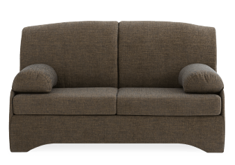 Brown Upholstered Sofa-Bed product photo