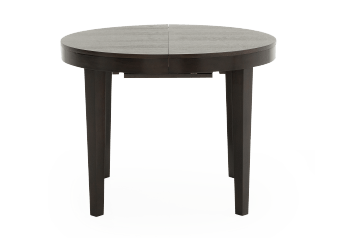 Dark Brown Wood Round Table with Central Leaf product photo