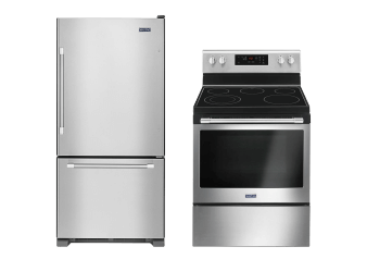 Maytag Refrigerator and Freestanding Range Set - MBR1957FEZ YMER6600FZ product photo