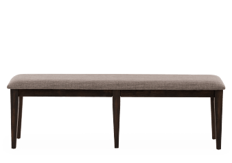 Wood Bench with Linen Upholstered Seat product photo