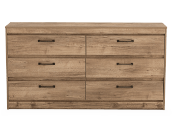 Brown 6-Drawer Dresser product photo