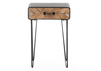 Grey and Brown Wood Accent Table product photo