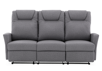 Grey Reclining Upholstered Sofa product photo