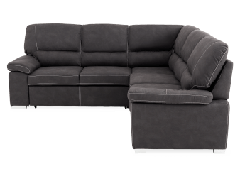 Dark Grey Upholstered Sectional Sofa Bed product photo