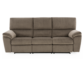 Beige Upholstered Reclining and Motorized Sofa - ELRAN product photo