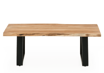Wood Coffee Table with Metal Legs product photo