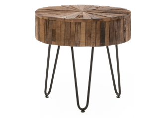 Brown Wood and Metal End Table product photo