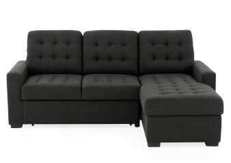Dark Grey Upholstered Sectional Sofa-Bed product photo