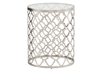 Metal and Glass Accent Table product photo