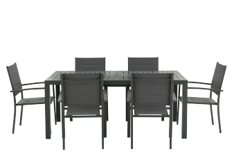 Grey Metal Patio Furniture product photo