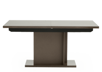Brown Grey Rectangular Table with Central Leaf product photo