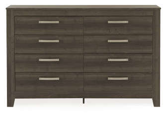 Brown Grey 8-Drawer Dresser product photo