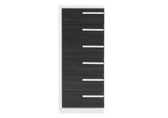 Dark Grey and White Chest of Drawers product photo