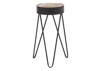 Black Metal Accent Table product photo