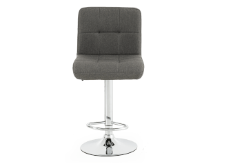Adjustable Stool with Grey Upholstered Seat product photo