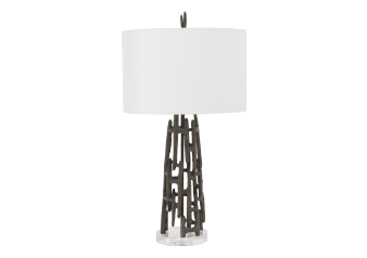 Table Lamp with Ivory Linen Shade product photo