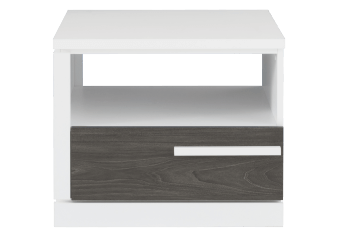 White and Grey End Table product photo