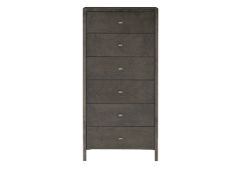 Dark Grey Birch Wood Chest of Drawers product photo
