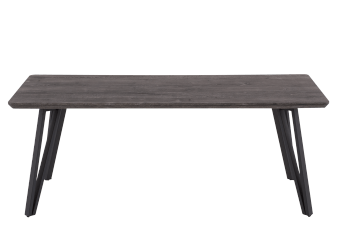 Grey Coffee Table with Black Metal legs product photo