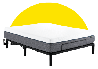 Collection HOP - HOP BASE AJUSTABLE - Double Adjustable Bed Frame for Mattress-in-a-Box product photo