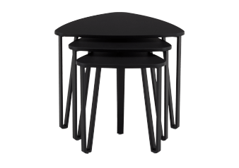Black Wood Nesting End Table Set product photo