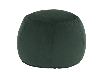 Green Velvet Ottoman product photo