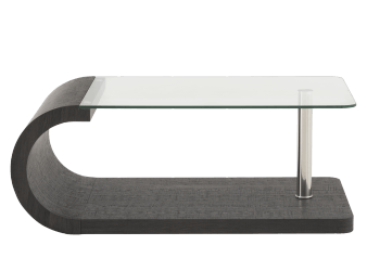 Dark Grey Coffee Table with Tempered Glass Top product photo