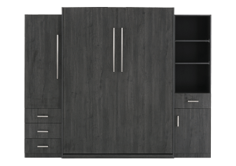 Dark Grey Wall Murphy Bed - Queen Bed product photo
