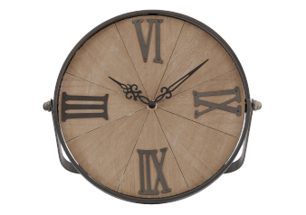 Wood and Metal Clock product photo