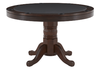 Brown Wood 2-in-1 Poker Table and Dining Table with Storage and Cup Holders product photo