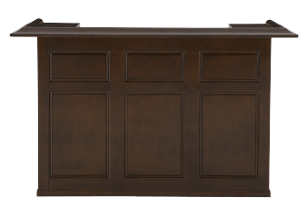 Brown Wood Bar Counter with Mini-Fridge Space product photo