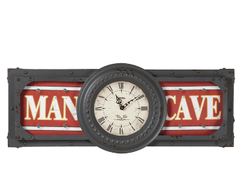"30.5x12.5"" Man Cave Clock product photo"