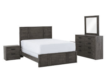 Brown Grey Bedroom Set - Queen product photo