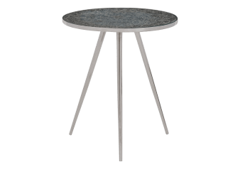 Silver Grey Metal and Glass End Table product photo