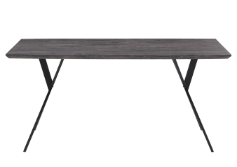 Grey Table with Black Metal Legs product photo